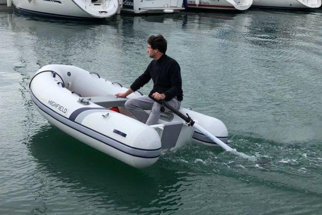 The innovative Temo electric dinghy engine
