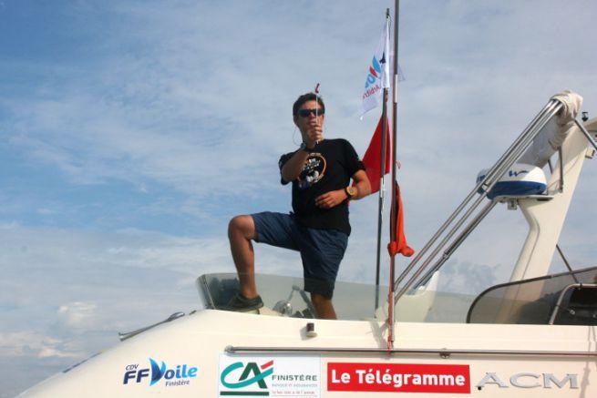 Regatta start with the FFVoile