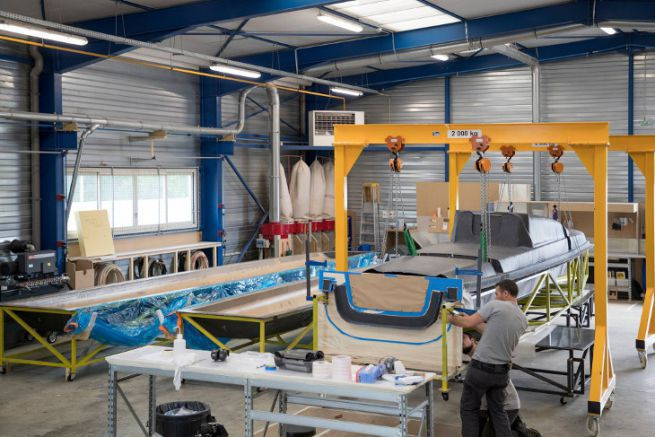 The workshops of the Magma Composites shipyard in Questembert
