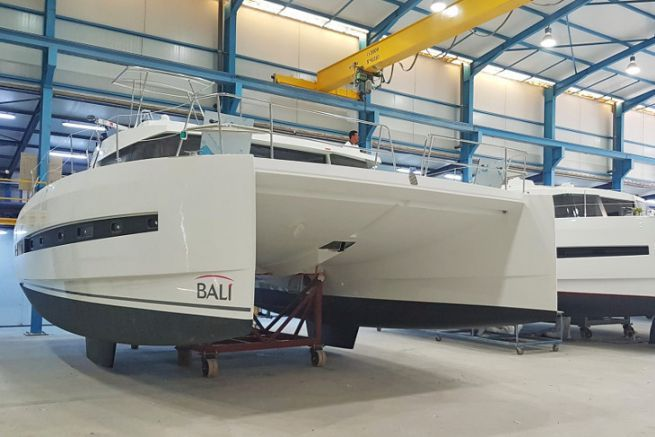 Bali catamarans in production in the Tunisian subsidiary Haco of the Catana group