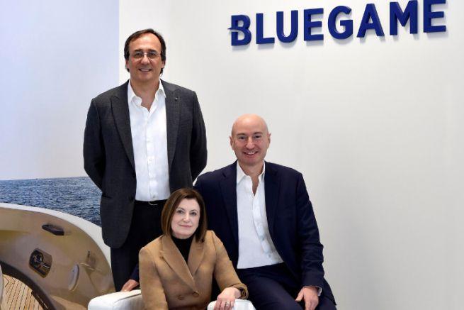 Carla Demaria with Massimo Perotti and Ferruccio Rossi