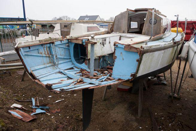 Bateau de plaisance à déconstruire