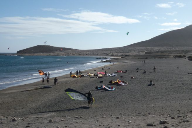 Windsurfing and kitesurfing spot in the Canary Islands