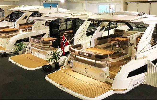 Bavaria showroom in Norway
