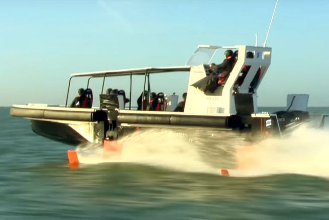 Foil concept boat developed by the Bénéteau group, Seair, DEMS and Noval.