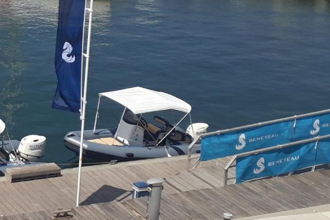 Rigid inflatable boat presented by Bénéteau to its dealers