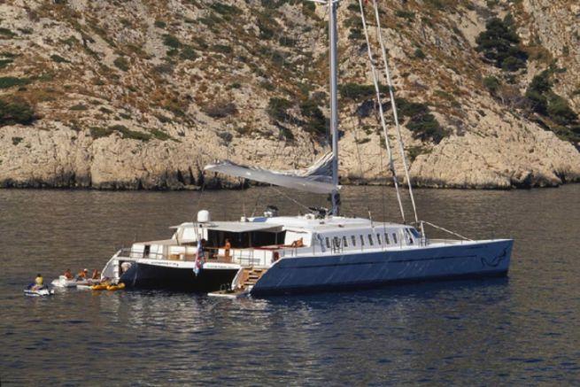 Lady Barbaretta, 105-foot catamaran designed by Dominique Presles