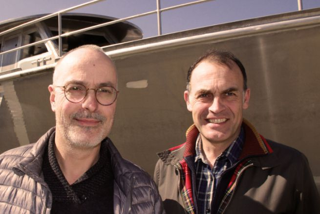 Patrice Passinge and Philippe Brabetz, the former and new leaders of Méta (From left to right)