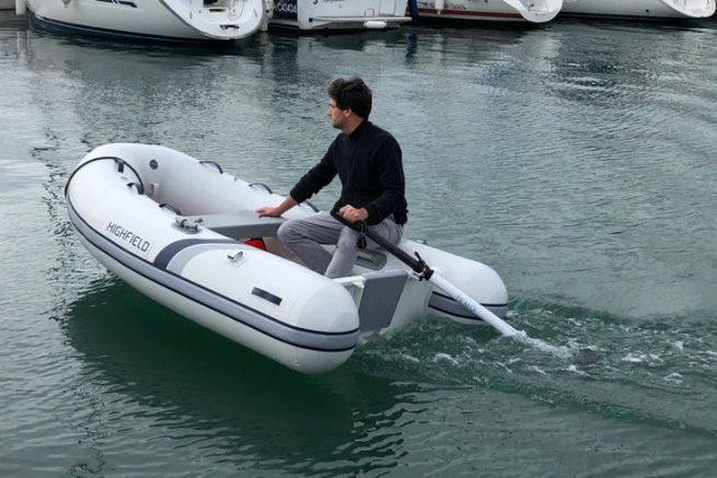 The innovative Temo electric dinghy engine