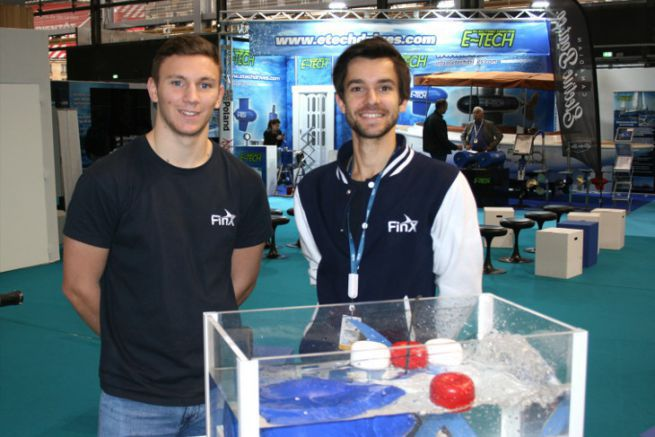 Harold Guillemin (right), founder of FinX motor and its electric thrusters
