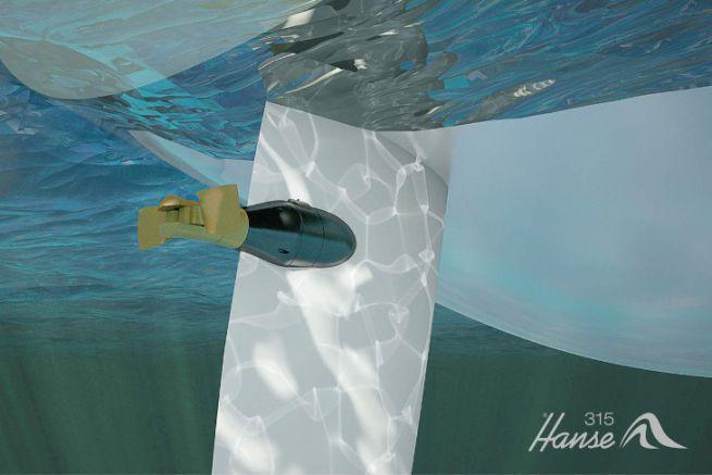 Hanse E-Motion Rudder