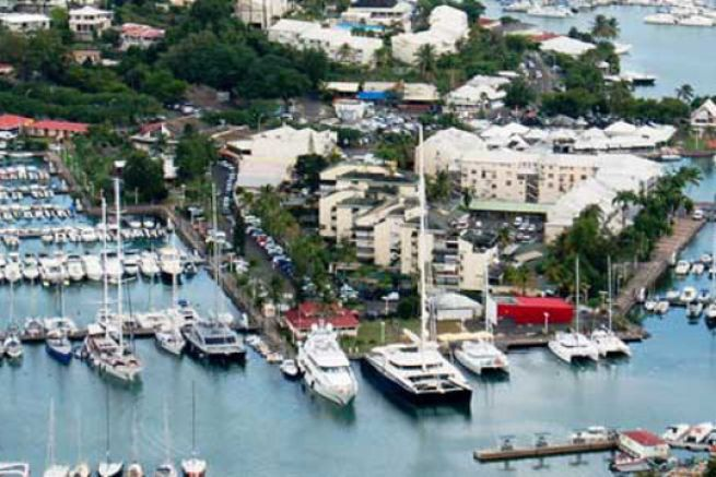 Marina of Bas du Fort, new blue flag port in 2016