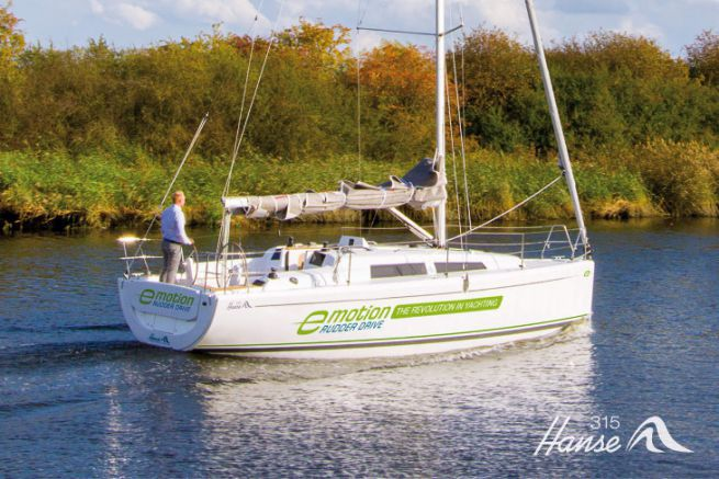 Electric sailboat developed by Hanse Yachts