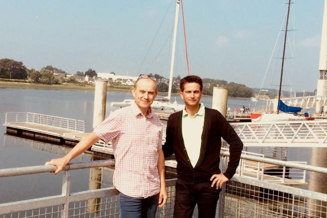 Richard Demeule and Eric Lerendu, founders of Marine Mobile Diffusion
