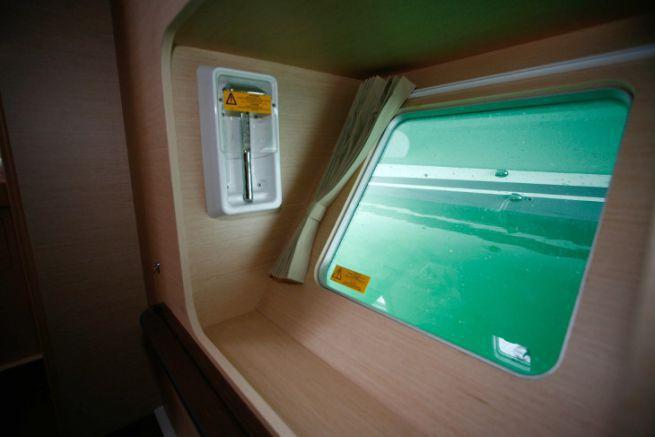 Survival hatch on a Lagoon 400 catamaran