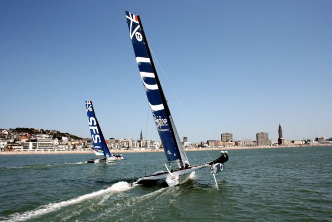 Regatta in front of the port of Le Havre