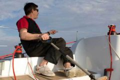 Olivier Criou at Amberoute's helm