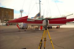 Laser measurement of a trimaran by NautiSCAN 3D
