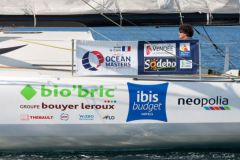 Sponsors on Jean Le Cam's boat for the Vendée Globe
