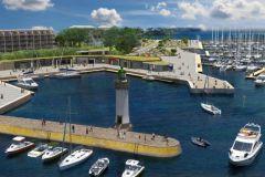 Futur bassin à flot de Port Haliguen