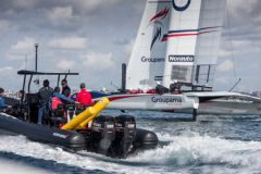 Semi-rigid equipped with Suzuki engines according to AC45 Groupama