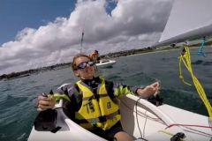 Sailboat equipped with Splashelec joysticks