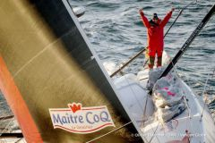 Jeremie Beyou, 3rd in the Vendée Globe 2017 on his IMOCA Master Rooster