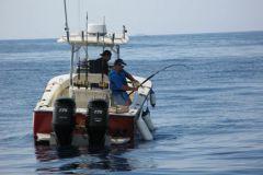 Recreational fishing at sea