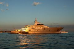 The Yacht Ulysses before its refit by Compositeworks