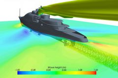 CFD calculation for yacht design by AITAC BV