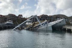Wreck in St-Martin after the passage of cyclone Irma