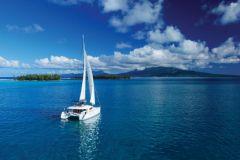 Catamaran en navigation