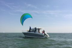 Libertykite can reduce the consumption of a motorized pleasure boat.