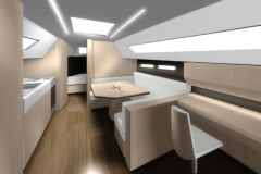 Classic interior designed by SYCI for a boat refit