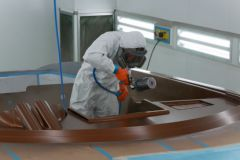 Frauscher paint booth on site