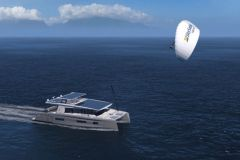 Rendering the future Silent 75 with a Sky Sails kite