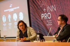 Carole Bourlon of Eurolarge Innovations speaks at Sail Inn Pro Forum