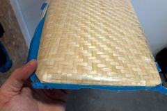 Demoulding of a bamboo fibre rudder