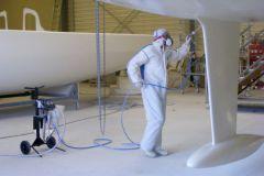 Marine paint application with Binks MXL 432 high-pressure pump
