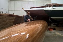 Wooden canoe made with West System products