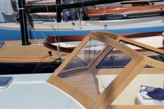 Windshield of boat made by Hublot Bateau