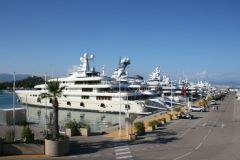 Yachts at the port of Antibes