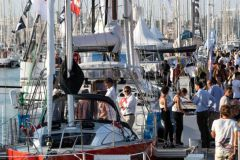 Crowd on the pontoons of the Grand Pavois boat show