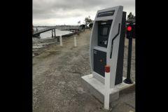 AR Marina payment terminal on the quay of a marina