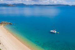 Dream Yacht Charter catamaran at anchor