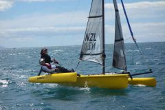 Optimist Erplast during the European Championship in Crozon Morgat