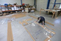 Manufacture of Flexiteek synthetic bridge lining