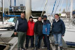 Eric Bretagne (right), with a group of future boat licence trainers