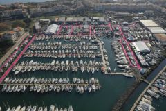 Aerial view of the Cap d'Agde Autumn Boat Show