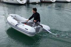 Waterworld electric motor on board a boat
